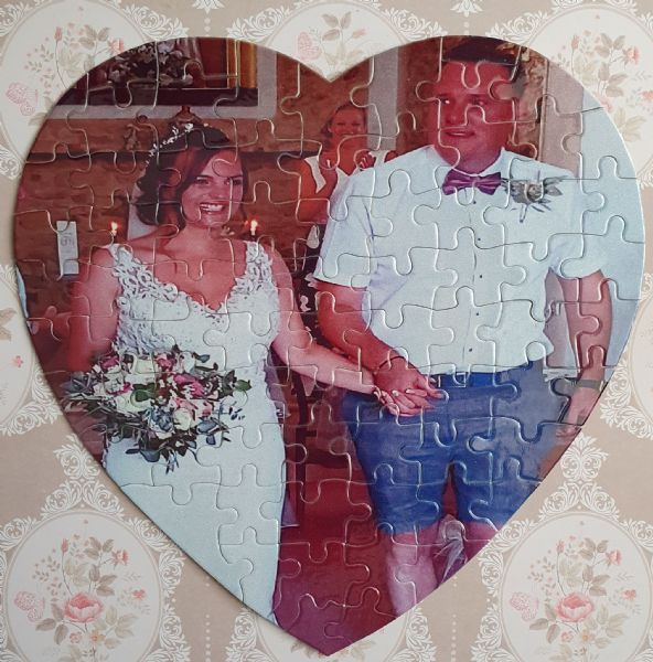 Add Your Own Image Heart Shaped Cardboard Jigsaw Puzzle